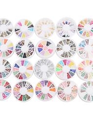 Недорогие -yemannvyou®20pcs ногтей украшение колеса смешанного стиля