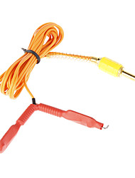 Red Rubber Tattoo Power Supply Unit Clip Cord