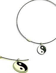 Schmuck Inspiriert von Naruto Neji Hyuga Anime Cosplay Accessoires Halsketten Schwarz / Silber Legierung Mann
