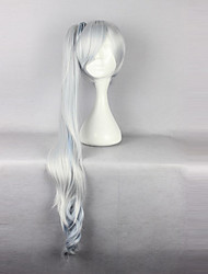cheap -Cosplay Wigs RWBY Weiss Schnee Silver Long Anime Cosplay Wigs 90 CM Heat Resistant Fiber Female