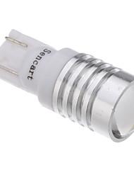 cheap -2Pcs T10 1.5W 1-LED 70-90LM 6000-6500K Cool White Light LED Bulb with Optical Glass Convex Lens (12V)