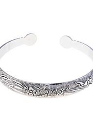 Fashion Alloy Flowers Pattern Bracelet Cuff