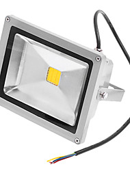 cheap -1400 lm LED Floodlight 1 LED Beads Waterproof Warm White 220-240 V
