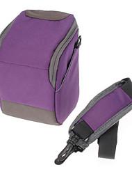 cheap -B-01-PL Purple Crossbody One-Shoulder Camera Bag for DSLR Camera