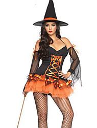 abordables -Sorcière Costume de Cosplay Costume de Soirée Féminin Halloween Carnaval Nouvel an Fête / Célébration Déguisement d'Halloween Couleur