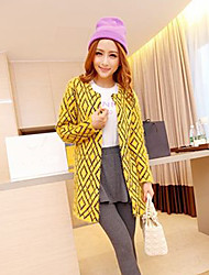 cheap -Women's Street chic Coat-Mixed Color,Modern Style