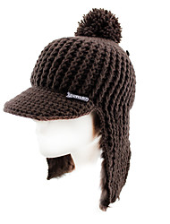 Ski Hat Ski Cap/Beanie Women's Thermal / Warm / Windproof Snowboard Polyester / Wool Fabric Red / Coffee / Gray SolidSkiing / Skating /