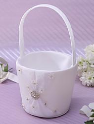 Недорогие -Цветочные корзины Атлас 22 см Стразы Лента