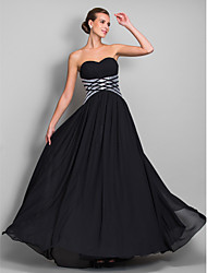 cheap -Sheath / Column Sweetheart Floor Length Chiffon Prom Formal Evening Military Ball Dress with Draping Sequins by TS Couture®