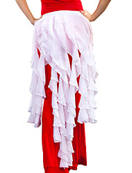 cheap -Belly Dance Hip Scarves Women's Training Chiffon Ruffles 1 Piece Hip Scarf