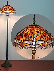 Недорогие -Бабочки украшения торшер, 2 Легкий, Тиффани смола стекла Процесс картины