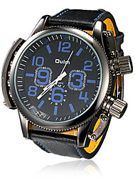 cheap -Men's Military Watch PU Band Charm Black