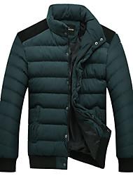 Недорогие -Мужская толстый стенд воротник случайные хлопка и пиджаки