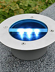 abordables -Solar Power Tour encastré Ponton Voie de jardin LED