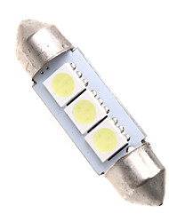 cheap -3 5050 SMD LED 36mm Car Interior Dome Festoon White Bulb Light