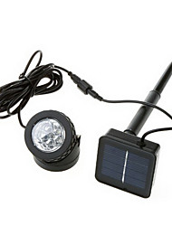 cheap -6-LED Cool White Light LED Outdoor Solar Powered LED Spotlight Lamp Waterproof