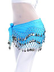 baratos -Dança do Ventre Cinto Mulheres Treino Chiffon Moeda Xale de Dança do Ventre / Salão de Baile