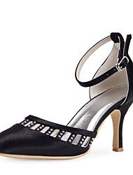 sapatas das mulheres slingback stiletto calcanhar de cetim bombas sapatos mais cores disponíveis