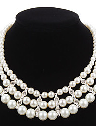 cheap -Elegant Imitation Pearl Strand With Rhinestone Women's Necklace
