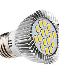 E26/E27 LED-spotlys 16 leds SMD 5730 Varm hvid 420-450lm 2500-3500K Vekselstrøm 220-240V