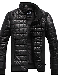cheap -Men's Korea Style PU Thick Slim Jacket