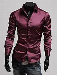 cheap -TUNE Imitated Silk Fabric Casual Bodycon Long Sleeve Shirt