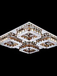 UMEI™ LED Crystal Flush Mount, 4 Light, Modern Amber Electroplating Stainless Steel