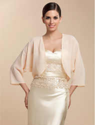 Chiffon Party Evening Casual Wedding  Wraps Coats / Jackets
