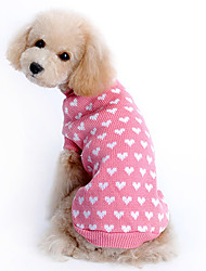 cheap -Cat Dog Sweater Dog Clothes Keep Warm Hearts Pink Costume For Pets