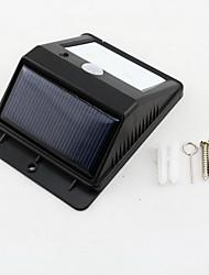 4-LED Solar PIR Montion sensore di luce per montaggio a parete per esterni da giardino Porta Porta lampada
