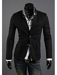 cheap -Men'S Multi Pocket Korea Style Contrast Color Stand Collar Suit