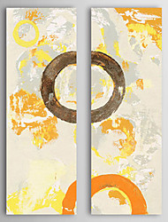 Hand-Painted Abstract Vertical Two Panels Canvas Oil Painting For Home Decoration
