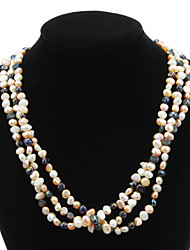 Pretty Natural Pearl Strand Women's Necklace Classical Feminine Style