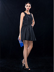 A-Line Square Neck Short / Mini Taffeta Cocktail Party Wedding Party Dress with Beading Ruching by TS Couture®