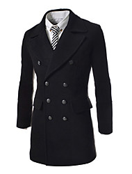 cheap -Men'S Long Stitching Collar Nylon Trench Coat
