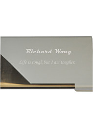 cheap -Personalized Father's Day Gift Siler Metal Engraved Business Card Holder