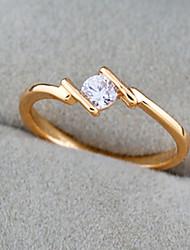 Bakke Kvinders 18K Zircon Ring (J1290)