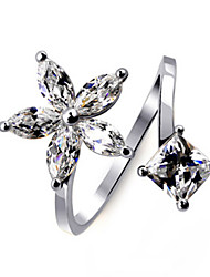cheap -Women's Ring Cubic Zirconia Gold Silver Alloy Stylish Wedding Party / Evening Costume Jewelry