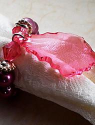 abordables -1pc vert / rouge acrylique serviette anneau décorations pour la maison collection de serviettes