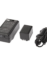 BP-727 2685mAh Camcorder Battery with Car Charger for Canon Vixia HF M50, Vixia HF M500
