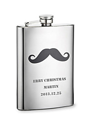cheap -Personalized Father's Day Gift Beard Pattern 8oz Metal Capital Letters Flask