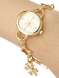 abordables -Mujer Reloj Casual / Reloj Pulsera Japonés Banda Elegante Dorado