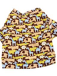 Cani T-shirt Marrone Abbigliamento per cani Estate Fantasia animale