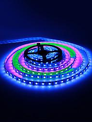 5M 30W 60x5050SMD RGB Light LED Strip lys med fjernbetjening og 12V 5A Adapter