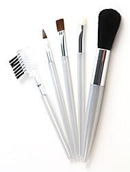 ieftine -Profesional Machiaj perii Seturi perie 5pcs Mini Călătorie Îmbinând Premium perfect buffing stippling Anticearcăn Perie din Păr de Capră Pensule de Machiaj pentru Khaki Lichid Pudre Set Pensule