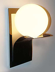 Bathroom Wall Light,1 Light, Modern Globe Metal Glass Electroplating