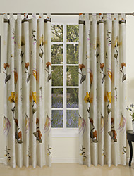 cheap -Curtains Drapes Living Room Contemporary 100% Cotton Cotton Print