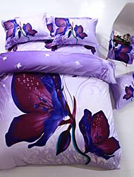 Blomster Polyester Sengesæt