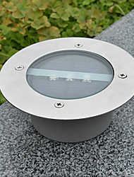 cheap -White Light LED Solar Light Round Recessed Deck Dock Pathway Garden Light