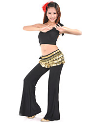 Belly Dance Outfits Women's Training Polyester 2 Pieces Sleeveless Top Pants